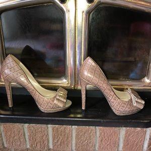 Karen Millen Peep Toe Bow Pumps